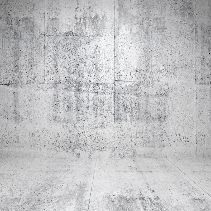Download Abstract White Interior With Concrete Walls Stock Illustration - Illustration: 34245469