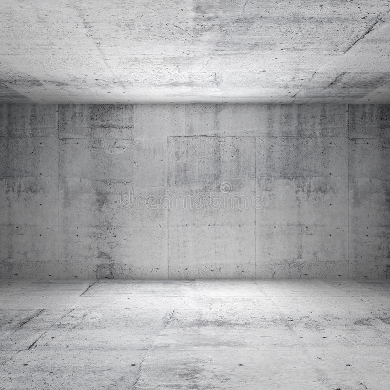 Abstract white interior of empty concrete room. Abstract white interior of empty room with concrete walls stock photos