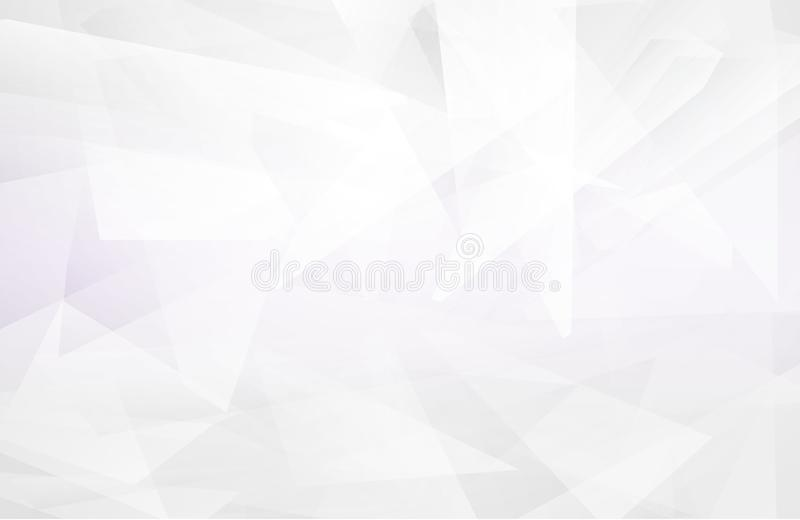 Abstract white interior highlights future. gray background, Lowpoly Background with copy-space. White paper modern polygon backgro. Und, vector illustration stock illustration