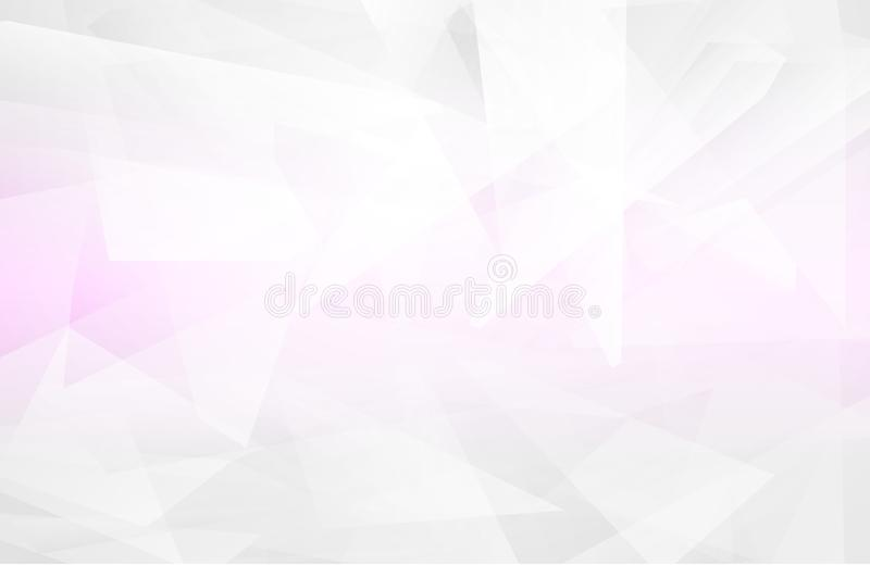 Abstract white interior highlights future. gray background, Lowpoly Background with copy-space. White paper modern polygon backgro vector illustration