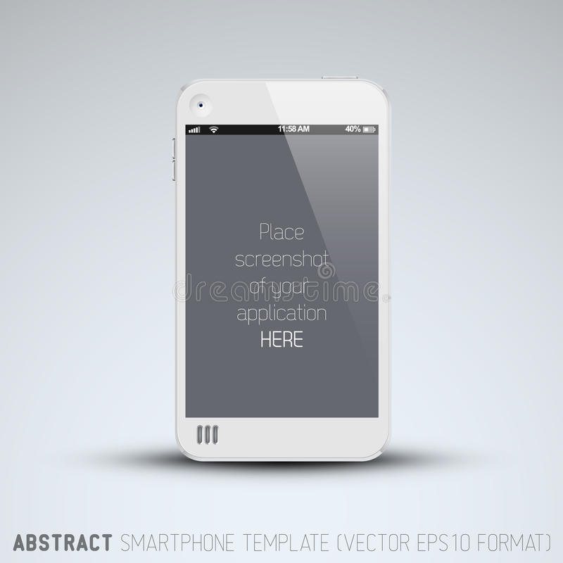 Free Abstract White Mobile Phone Template Royalty Free Stock Photos - 31874998