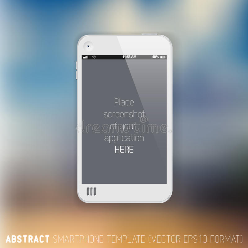 Free Abstract White Mobile Phone Template Stock Images - 32638644