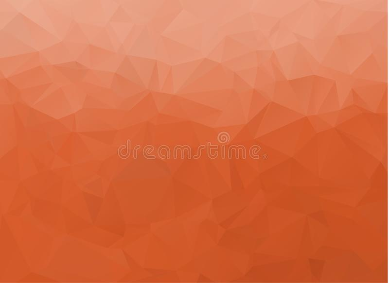 Abstract White and orange polygonal background. Multicolor low poly gradient background. Crystal polygonal background.  royalty free illustration