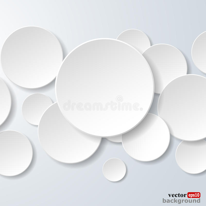 Free Abstract White Paper Circles On Light Blue Background Royalty Free Stock Photography - 31703077