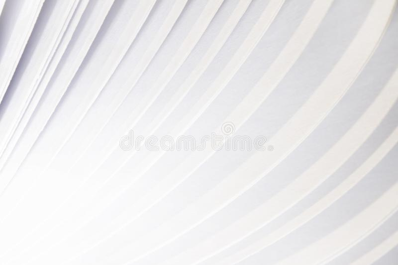 Abstract white paper page flying book background royalty free illustration