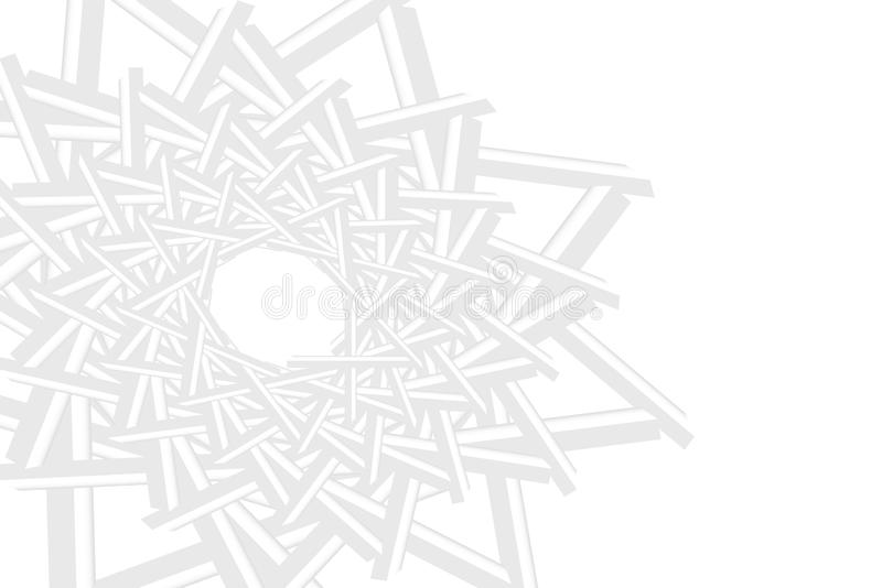 Abstract of white pattern space forming a multiple star. In the left part of the vector. The right part is the place for your text.. Can be used as a template stock illustration