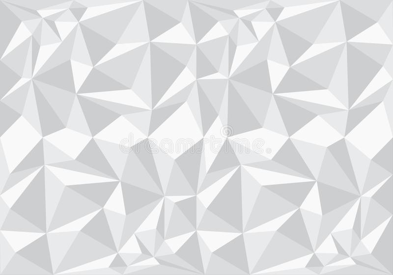 Abstract white polygon pattern background texture vector. Illustration vector illustration