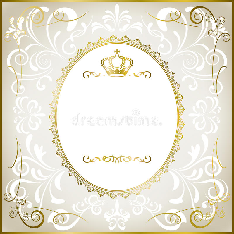 Abstract white romantic frame. Illustration royalty free illustration