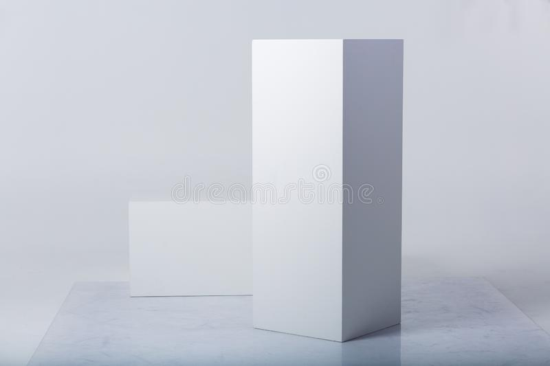 Abstract white shapes stock photography