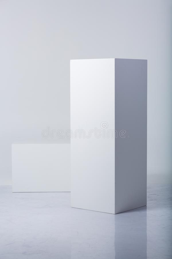 Abstract white shapes stock image
