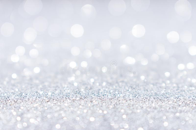 Abstract white silver glitter sparkle background stock image