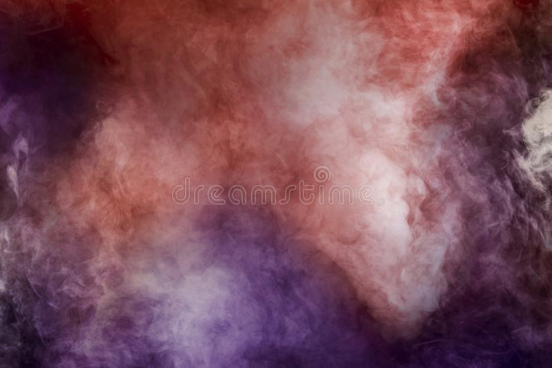 Abstract white smoke isolated color pink red and purple background royalty free stock photos