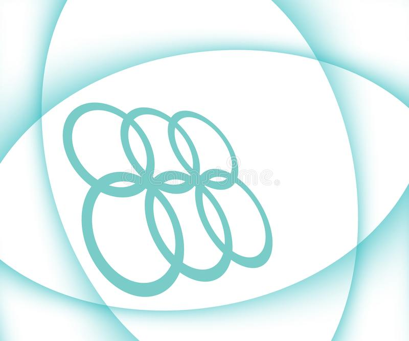 Abstract White Sports Theme Background with Turquoise curves vector illustration
