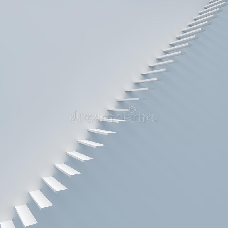 Download Abstract white staircase stock illustration. Image of abstract - 33327001