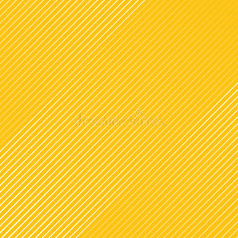 Abstract white striped lines pattern Diagonally texture on yello. W color background. Vector illustration stock illustration