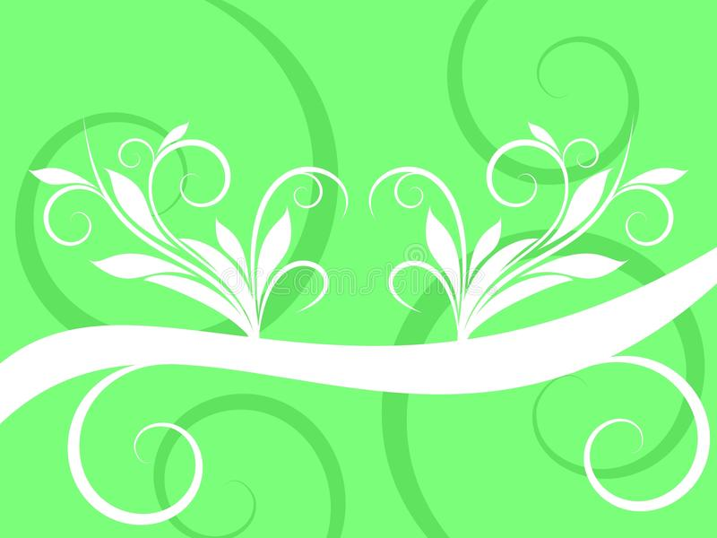 Download Abstract White Swirl On Green Background Stock Illustration - Image: 20233525