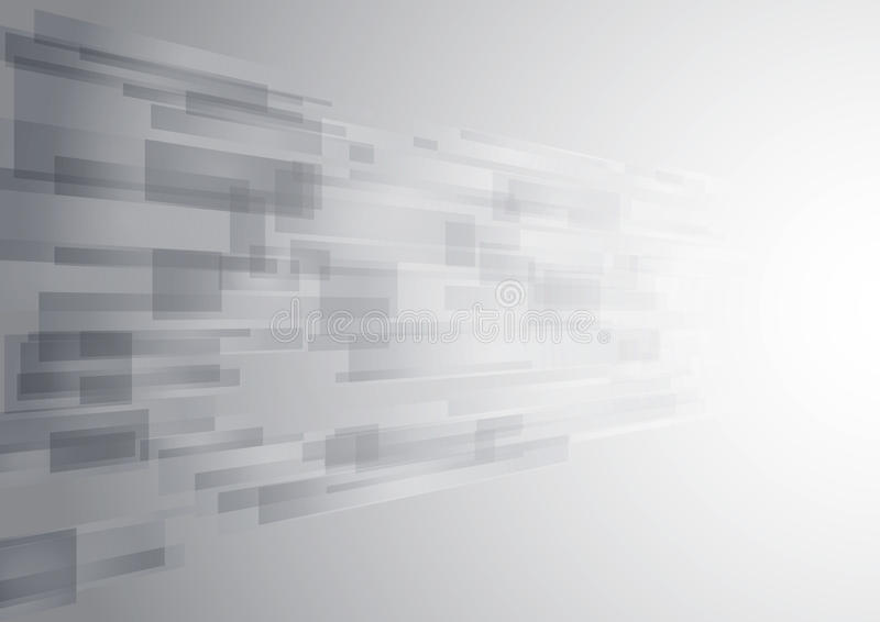 Abstract white technology new future background stock illustration