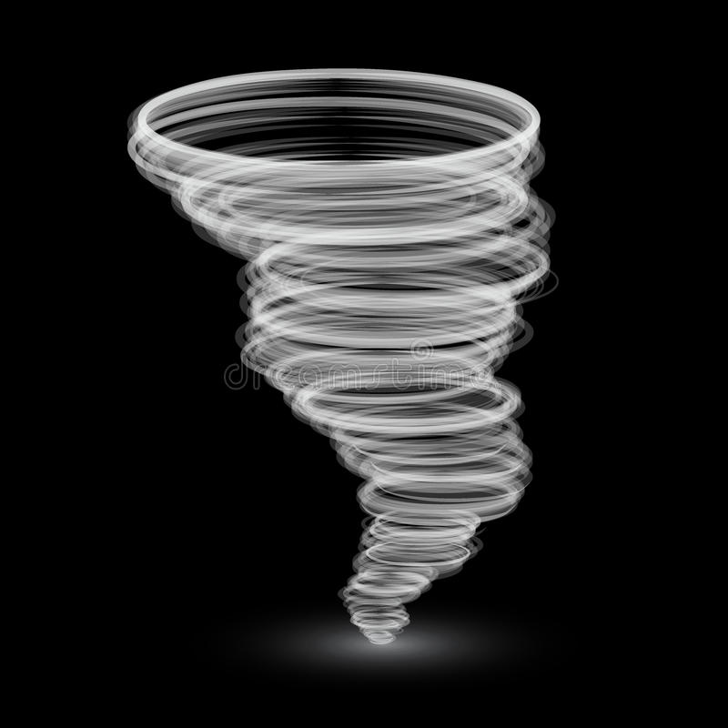Abstract white tornado stock illustration