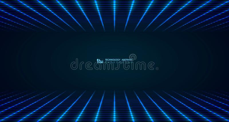 Abstract wide futuristic square grid line pattern connect background. illustration vector eps10. Abstract wide futuristic square grid line pattern connect vector illustration