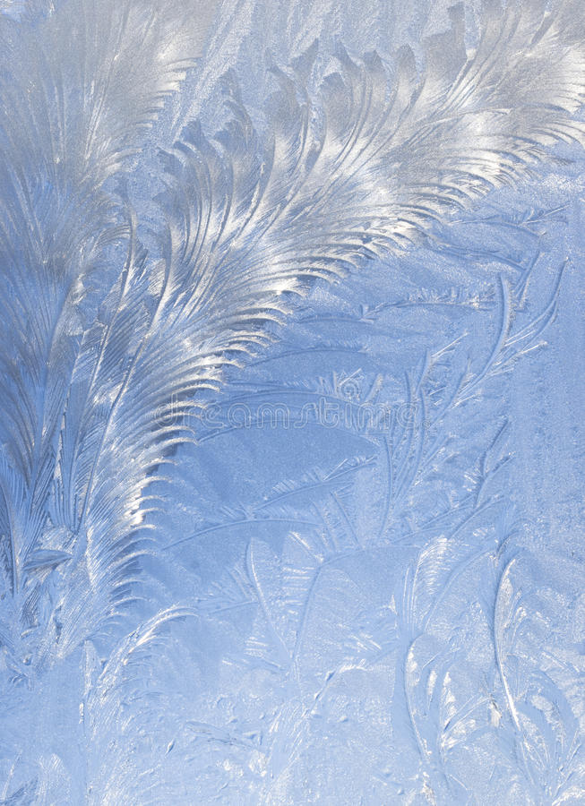Abstract window frost background stock image