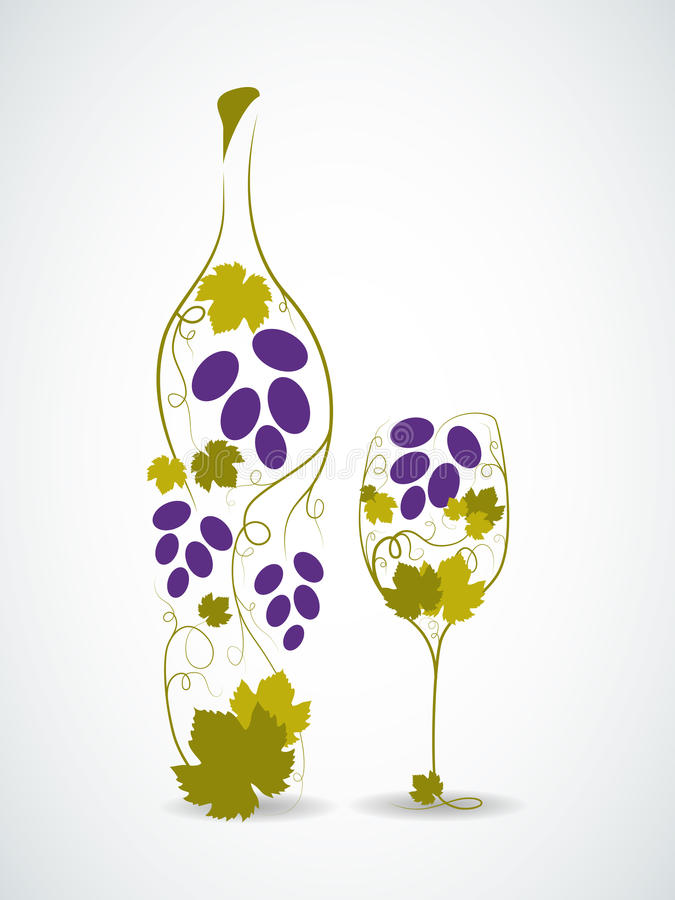 Free Abstract Wine Bottle Stock Image - 26223271