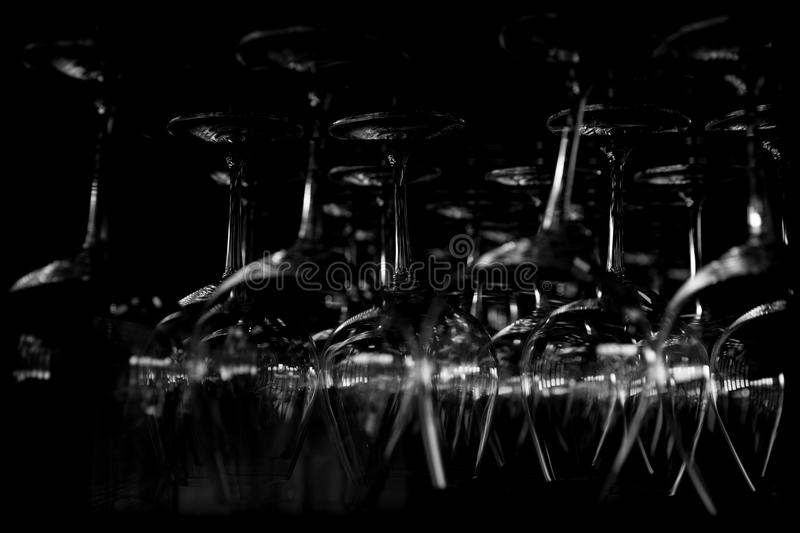 Abstract wine glasses royalty free stock images
