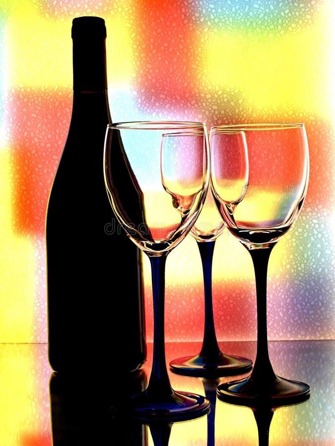 Abstract Wine Glassware Design stock photo