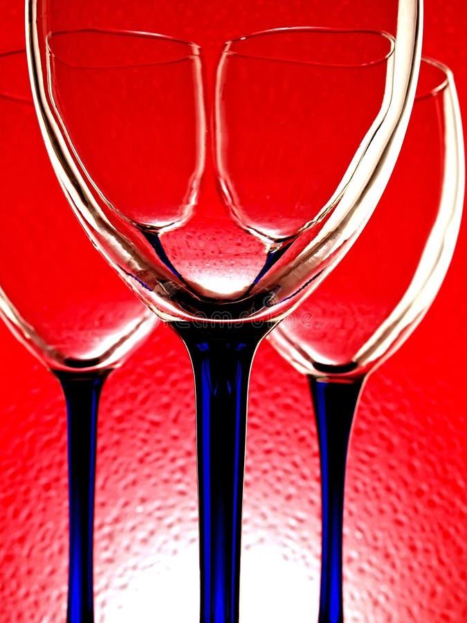 Abstract Wine Glassware Design stock photos