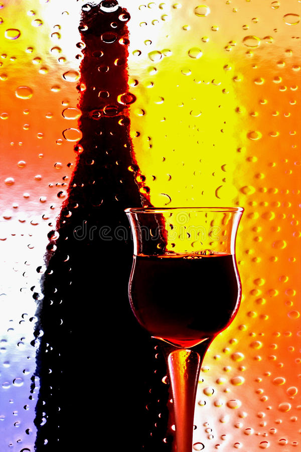 Abstract Wine Glassware Design royalty free stock image