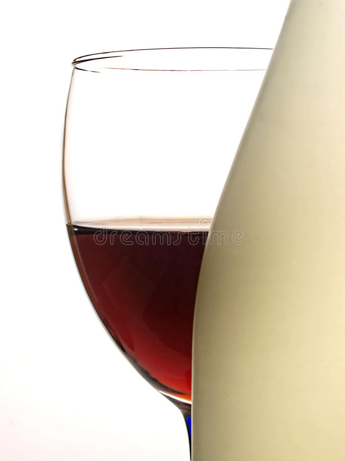 Abstract Wine Glassware Design stock images