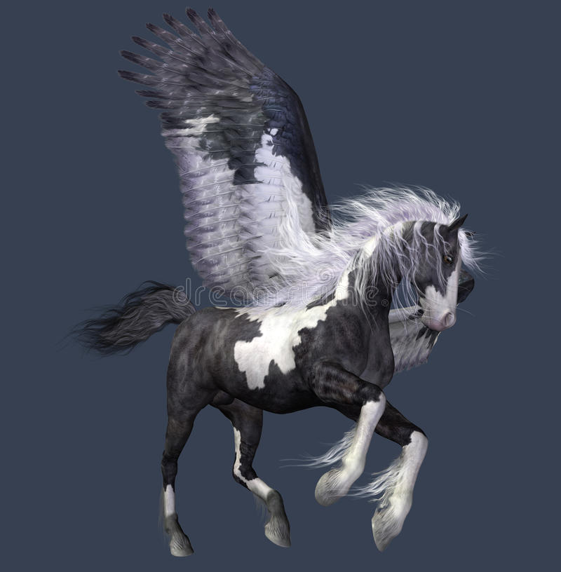 Download Abstract winged horse stock illustration. Image of graphic - 15645000