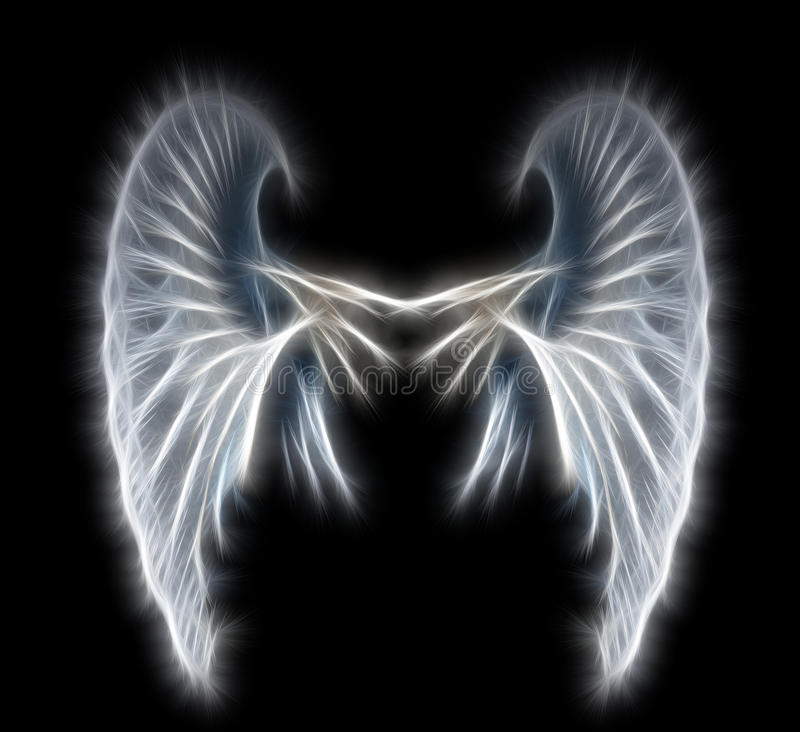 Abstract wings royalty free stock photos