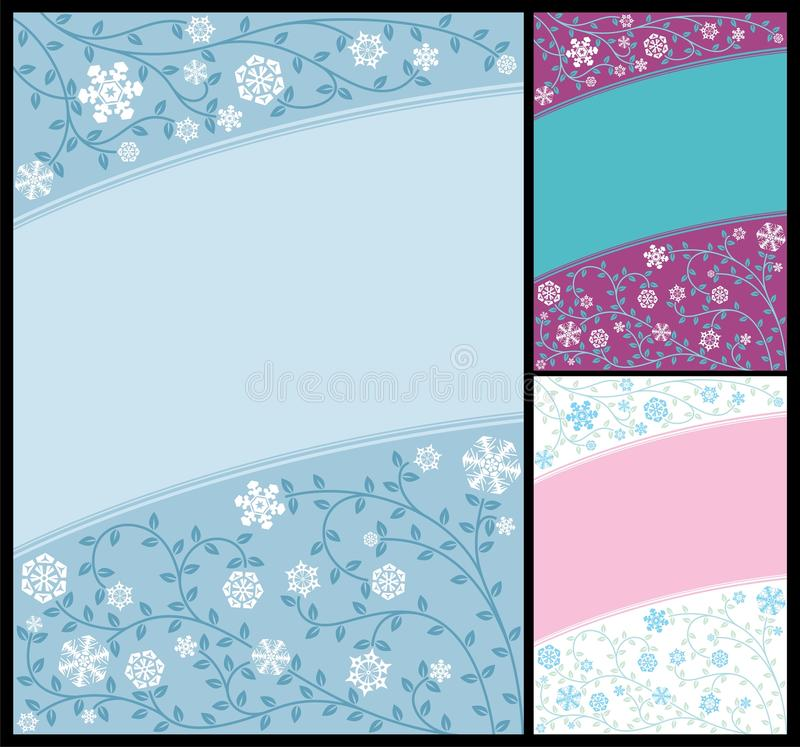 Download Abstract Winter Background stock vector. Image of curls - 16301141