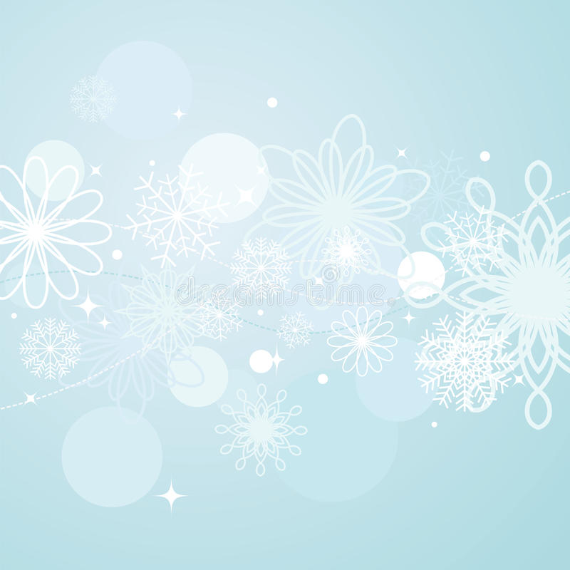 Abstract winter background vector illustration