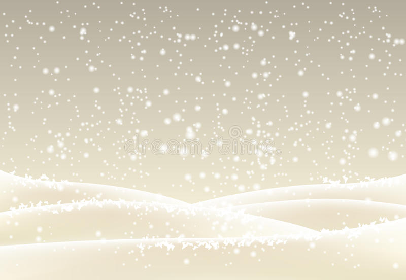 Abstract winter background in sepia tone. Abstract winter landscape in sepia tone, can be used as background, vector illustration, eps 10 with transparency and stock illustration