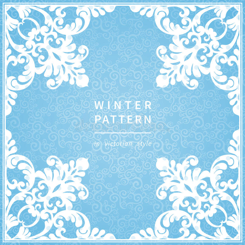 Free Abstract Winter Border With Place For Text. Royalty Free Stock Images - 48298719