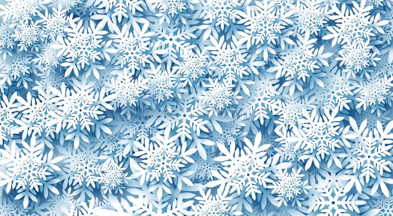 Abstract Winter Christmas Background Many Snowflakes Fill The Entire Screen Stock Vector Illustration Of Happy Abstract 161289249