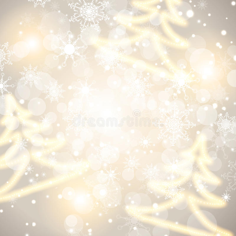 Abstract winter holiday background stock illustration
