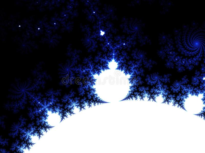 Abstract winter holidays dark blue background.Fractal Julia Sets. royalty free stock photography