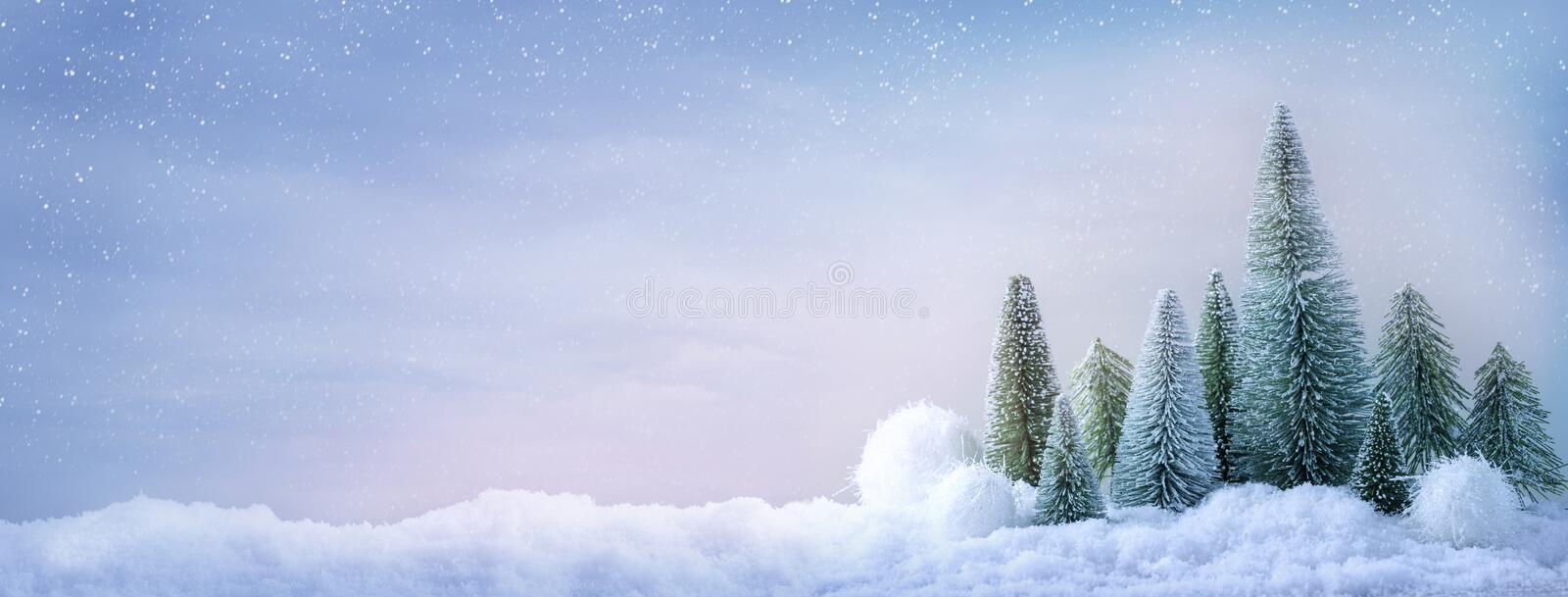 Abstract winter landscape background. Pastel colored stock photos