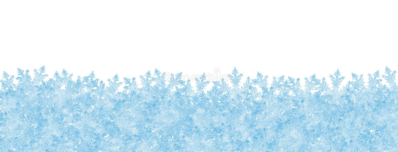 Abstract Winter Panorama Backdrop with White Background and Froz royalty free illustration