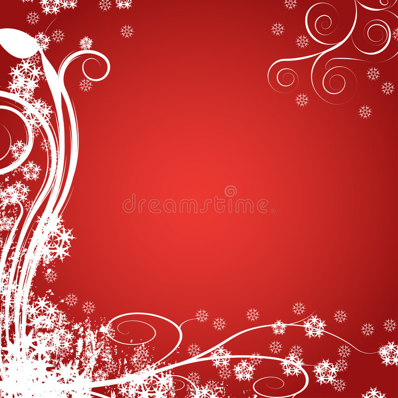 Abstract winter vector backgro stock illustration
