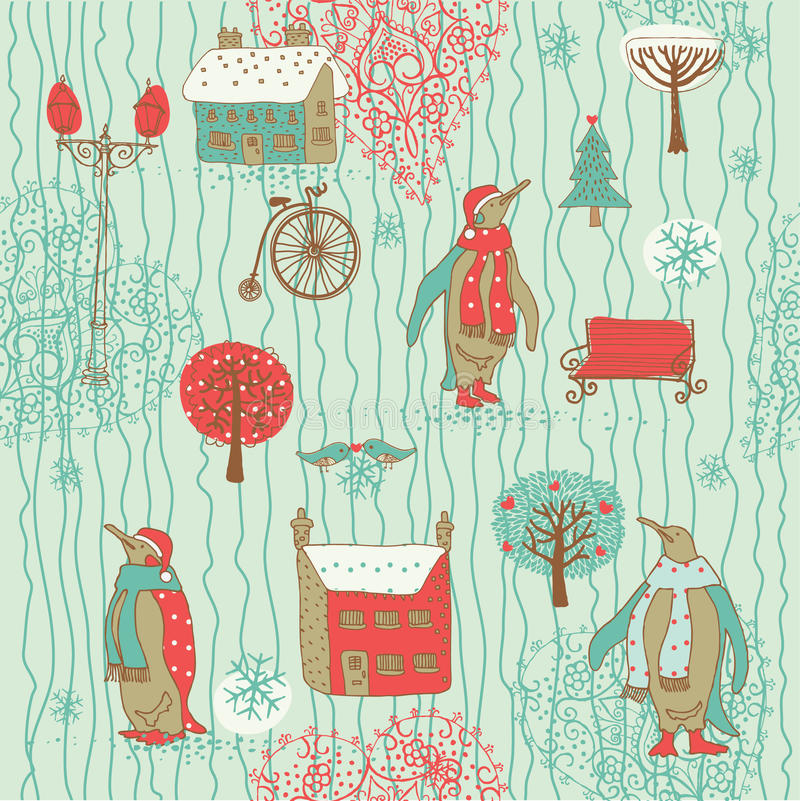 Download Abstract Wintertime Background Stock Illustration - Image: 18554260