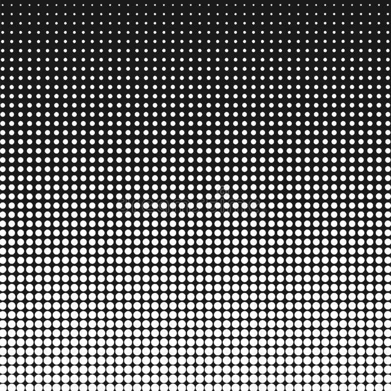Abstract Wit Halftone Dots Pattern op Zwarte Achtergrond royalty-vrije illustratie