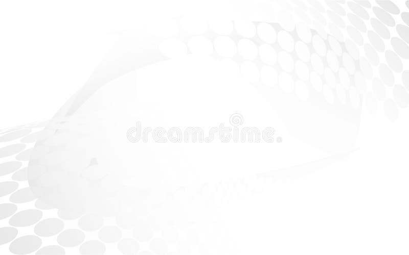 Abstract wit met grijs schaduwachtergrond en halftintontwerp stock illustratie