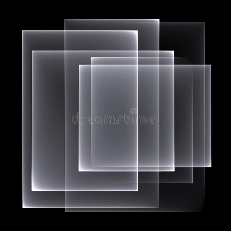 Abstract wit-zwart patroon als achtergrond Heldere witte lijnen op de zwarte achtergrond stock illustratie