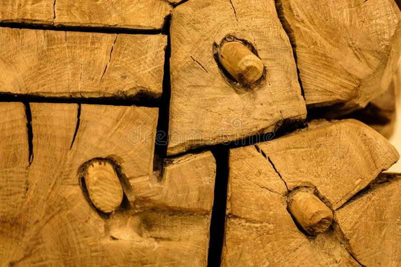 Abstract wood. For backgrounds with green lights royalty free stock photography