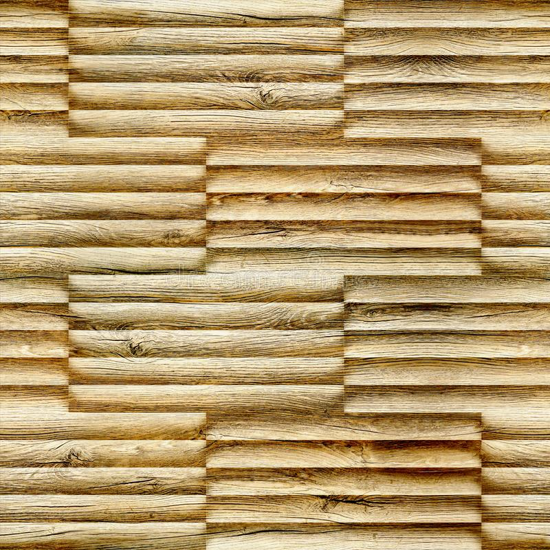 Abstract decorative bars stacked for seamless background - decoration material - wood texture. Abstract wooden paneling - seamless background - decorative royalty free stock images