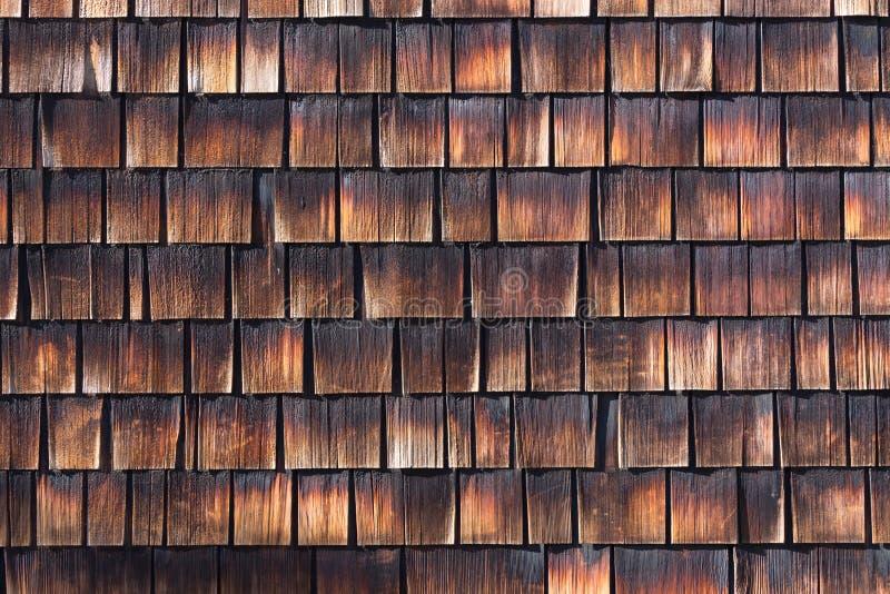 Abstract Wooden Texture Of Cedar Shingles Stock Photo