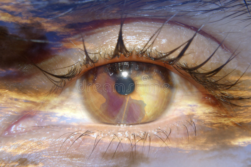 Abstract world in iris stock image